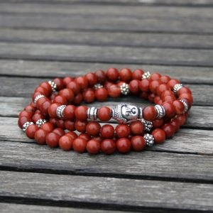 Perlenarmband Red Buddha